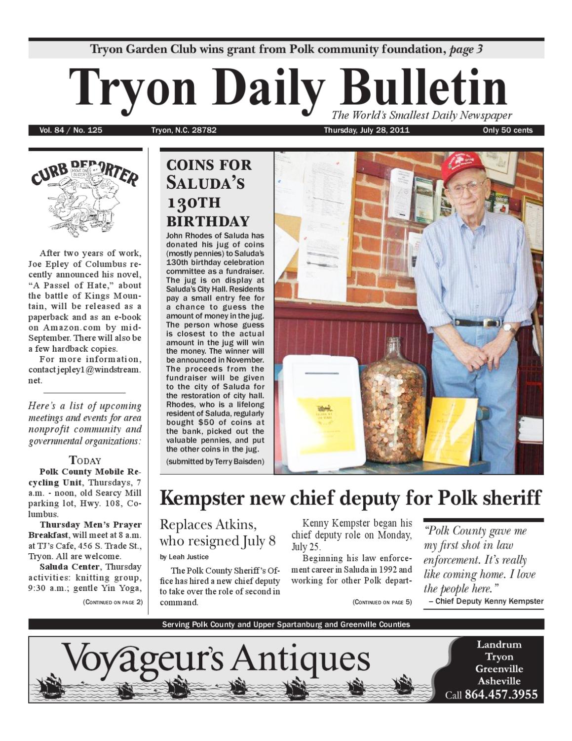 07-28-11 Daily Bulletin by Tryon Daily Bulletin - issuu