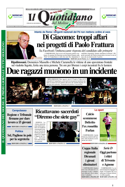 Il quotidiano del molise del 27 luglio 2011 by Bruno Marrone - issuu 54d199dc2f9
