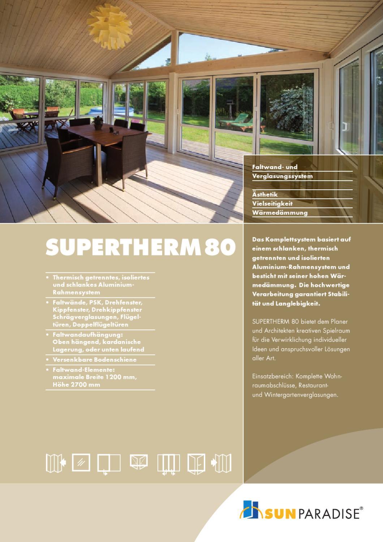 SUNPARADISE - Schiebewand Supertherm 80 by schmiddesign Werbeagentur ...
