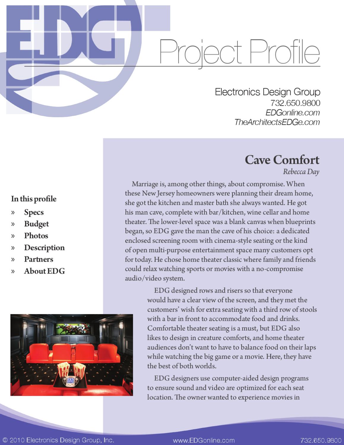 Cave Comfort By Electronics Design Group Issuu Crestron Cls C6 Wiring Diagram