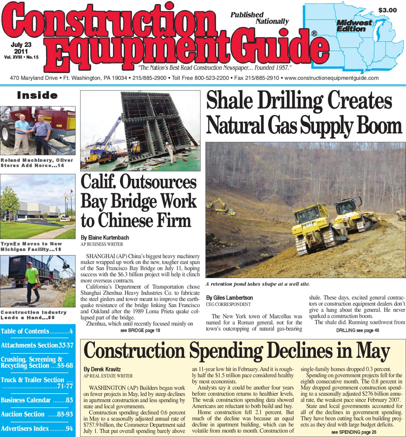 Midwest #15, 2011 by Construction Equipment Guide - issuu