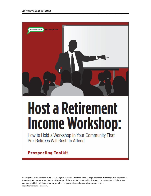 retirement income workshop toolkit by sara lautman issuu
