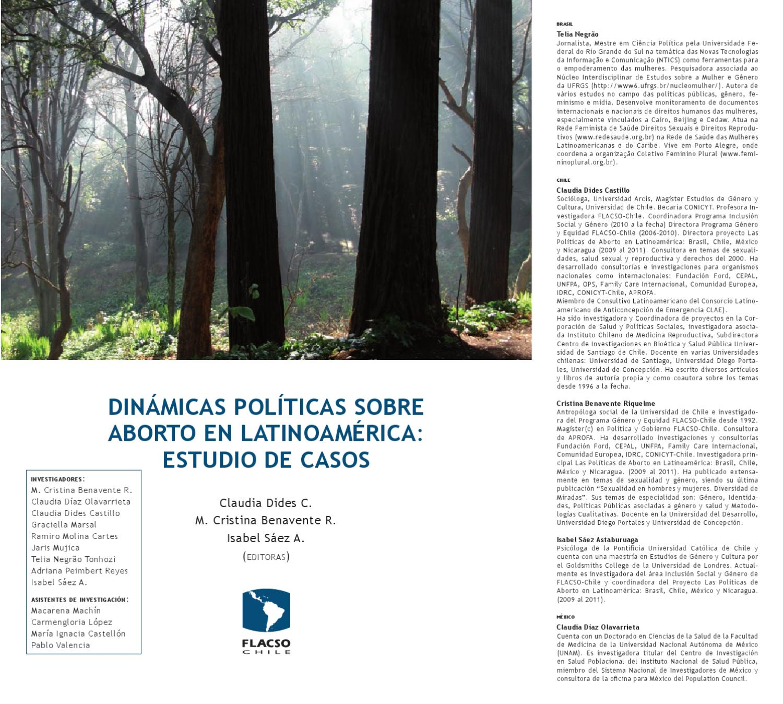 Dinamicas políticas sobre aborto en latinoamerica: estudio