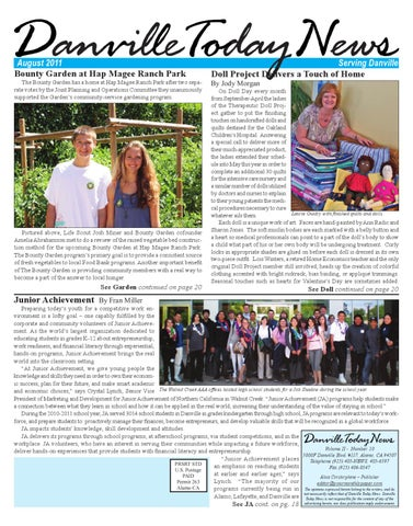 Danville Today News, August 2011 by The Editors, Inc - issuu