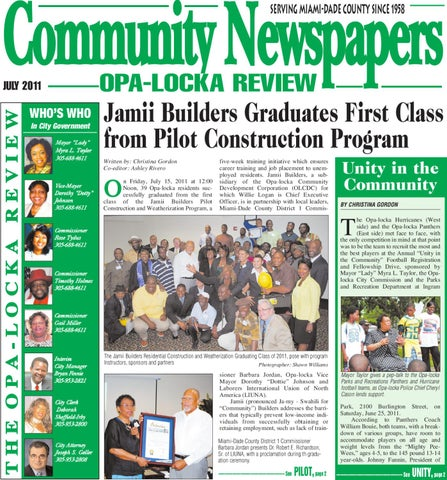 5a6145ffba6ae1 Community Newspapers SERVING MIAMI-DADE COUNTY SINCE 1958. OPA-LOCKA REVIEW