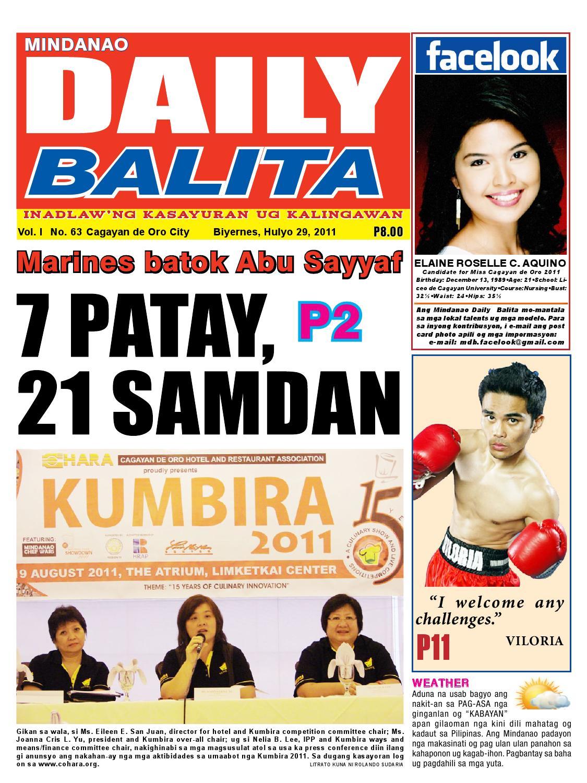 MINDANAO DAILY BALITA JULY 29 by BusinessWeekMindanao BWM ... University Of Mindanao Logo