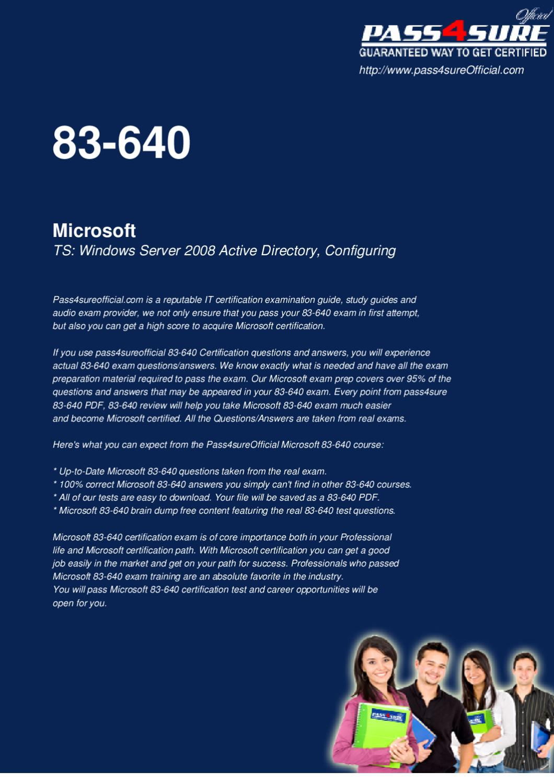 Microsoft 83 640 Free Pdf By Ipass4sure Issuu
