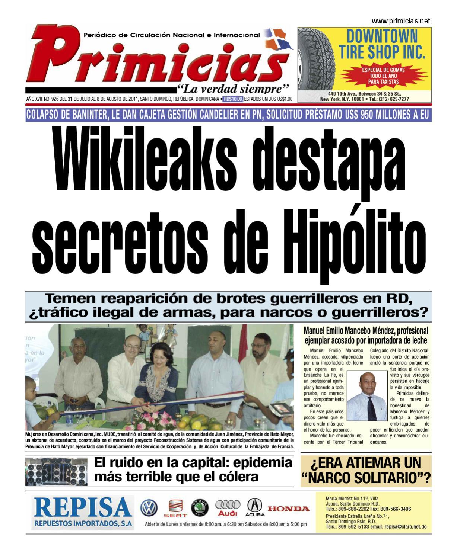 Edición Impresa no.926 by Primicias Periodico - issuu