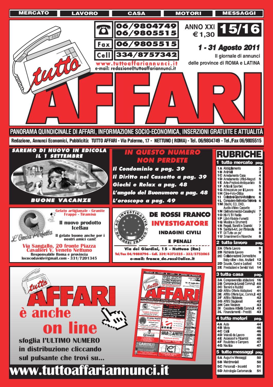 giornale 1-31 agosto by tutto affari - issuu 155070c1c166