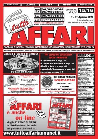giornale 1-31 agosto by tutto affari - issuu 97728f3de9ab