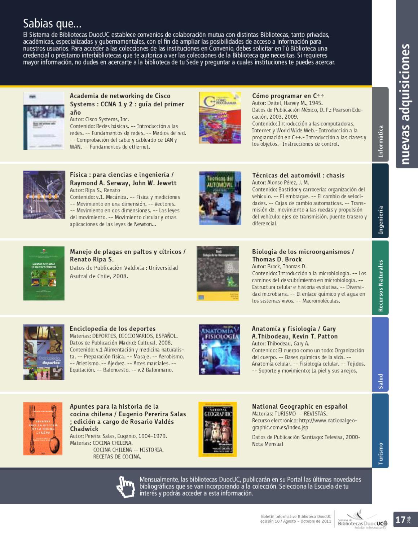 Boletín Biblioteca DuocUC - ed10/ago-oct 2011 by Bibliotecas DuocUC ...