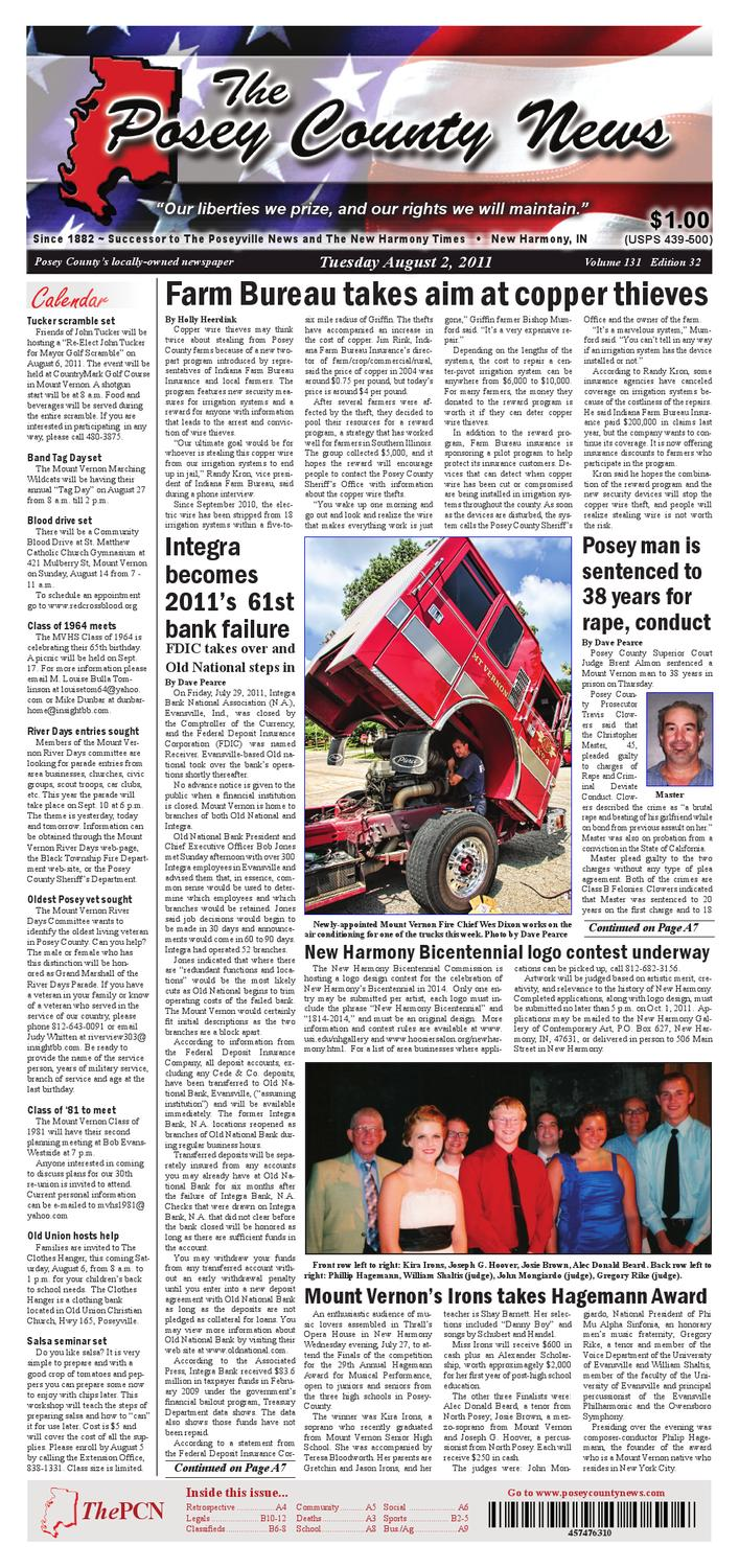 August 2, 2011 - The Posey County News by The Posey County News ...