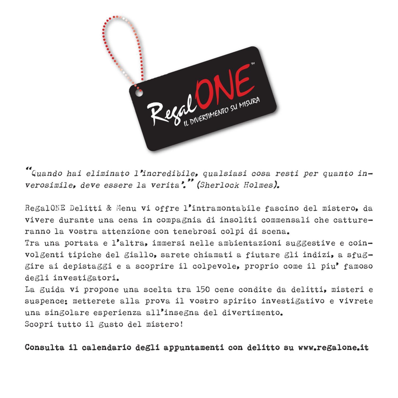 Maison Espana Cena Con Delitto brochure delitti&menu regalone by fnac italia - issuu