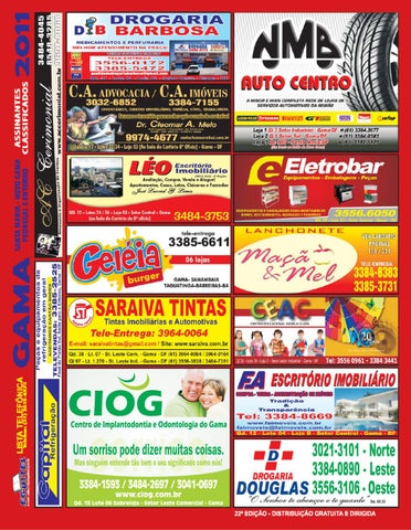Lista Telefonica da cidade de Gama Brasilia DF lista EGUITEL by ... 85729ae363