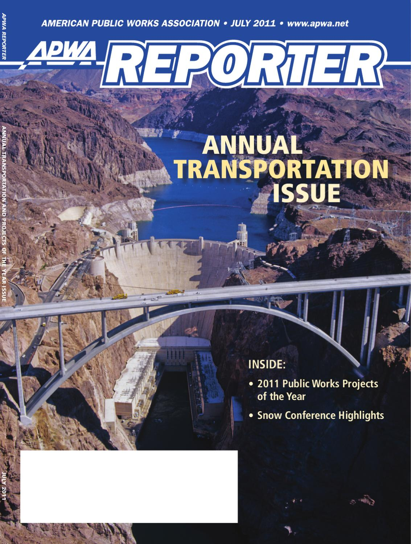 apwa reporter july 2011 issue by american public works association issuu
