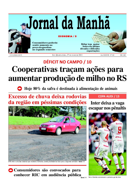 714769fcd7b6 Jornal da Manha 27 07 2011 by Classificados Jornal da Manhã - issuu