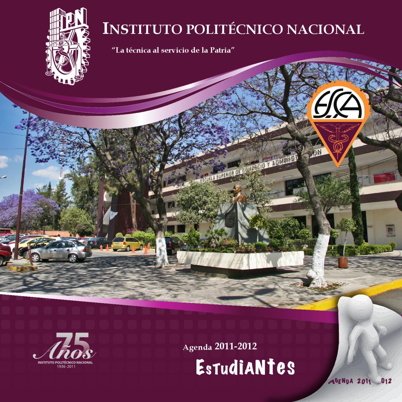 Agenda para alumnos by ESCA Santo Tomás IPN - issuu