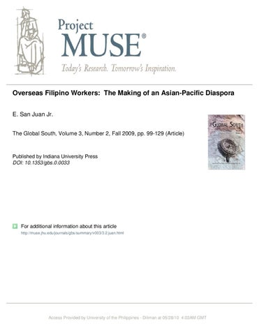 thesis about overseas filipino workers
