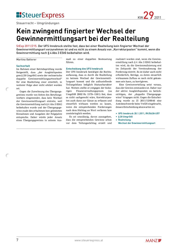 SteuerExpress E Paper KW 20/20 by MANZ'sche Verlags  u ...