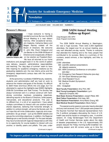 July-August 2008 by Society for Academic Emergency Medicine - issuu