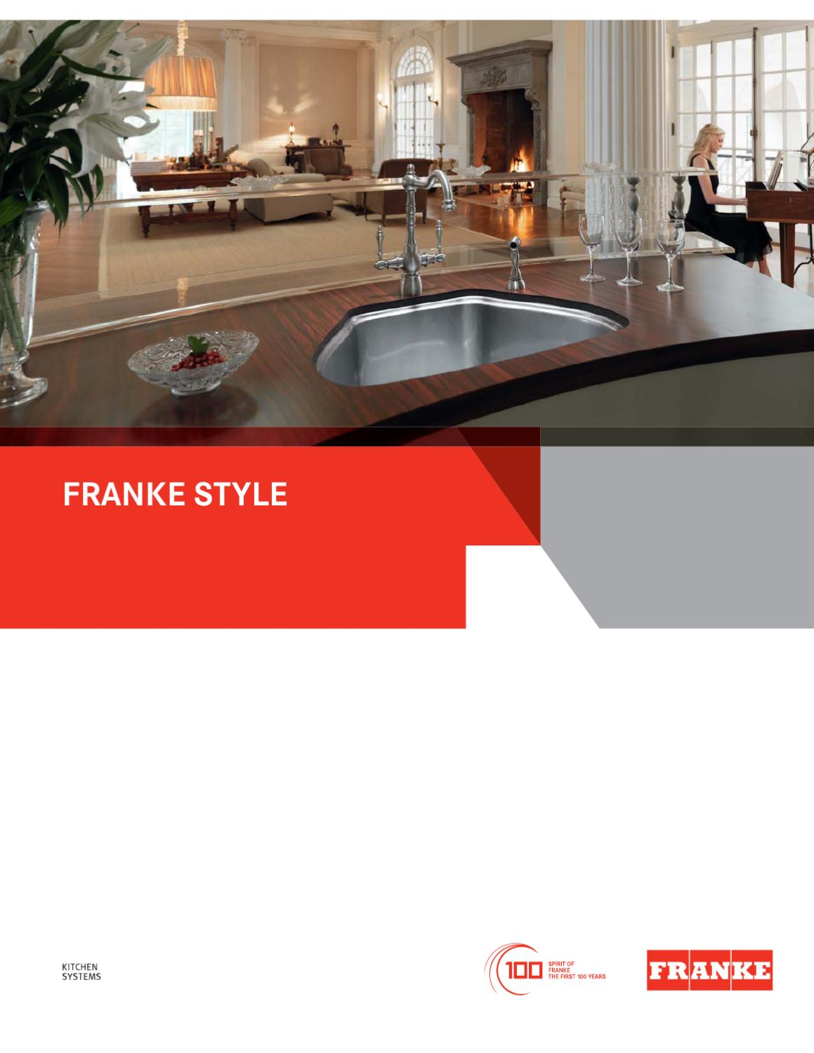 franke kitchen systems technical catalog by franke kitchen. Black Bedroom Furniture Sets. Home Design Ideas