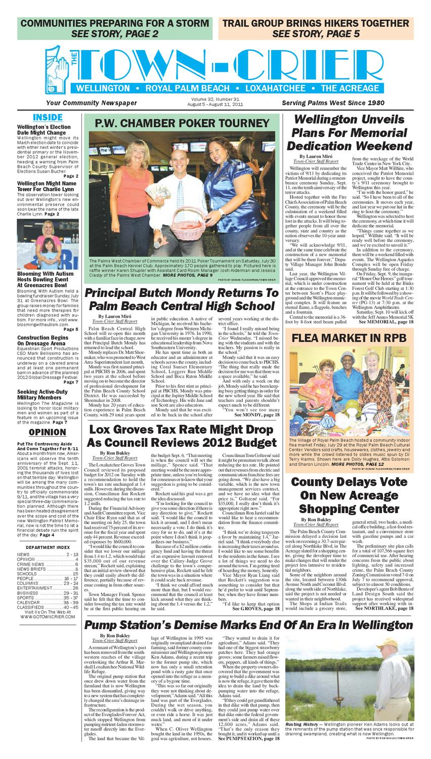Town-Crier Newspaper August 5, 2011 by Wellington The