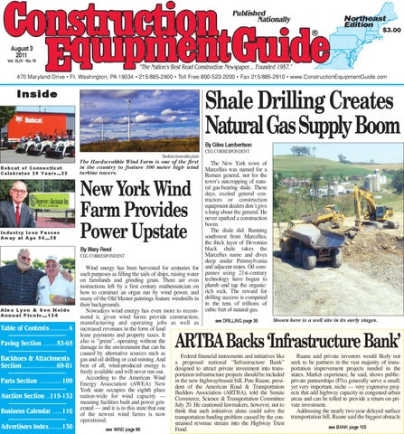 Northeast #16, 2011 by Construction Equipment Guide - issuu