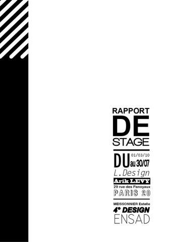 Rapport De Stage Chez L Design By Estelle Meissonnier Issuu