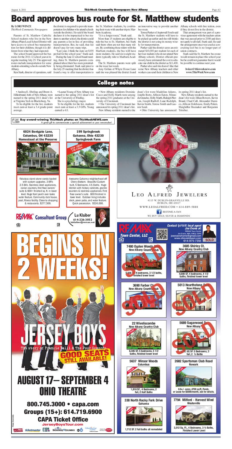 ThisWeek New Albany 8/4 by The Columbus Dispatch - issuu