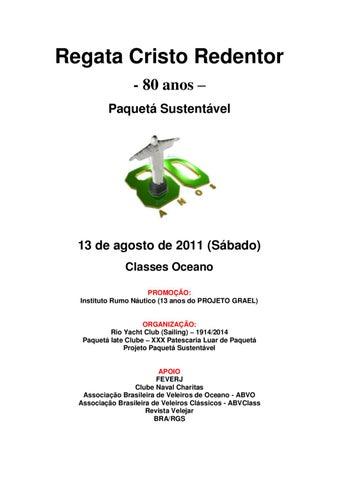 9804c5ba80733 Instrução de Regatas - Regata 80 Anos do Cristo Redentor by Axel ...