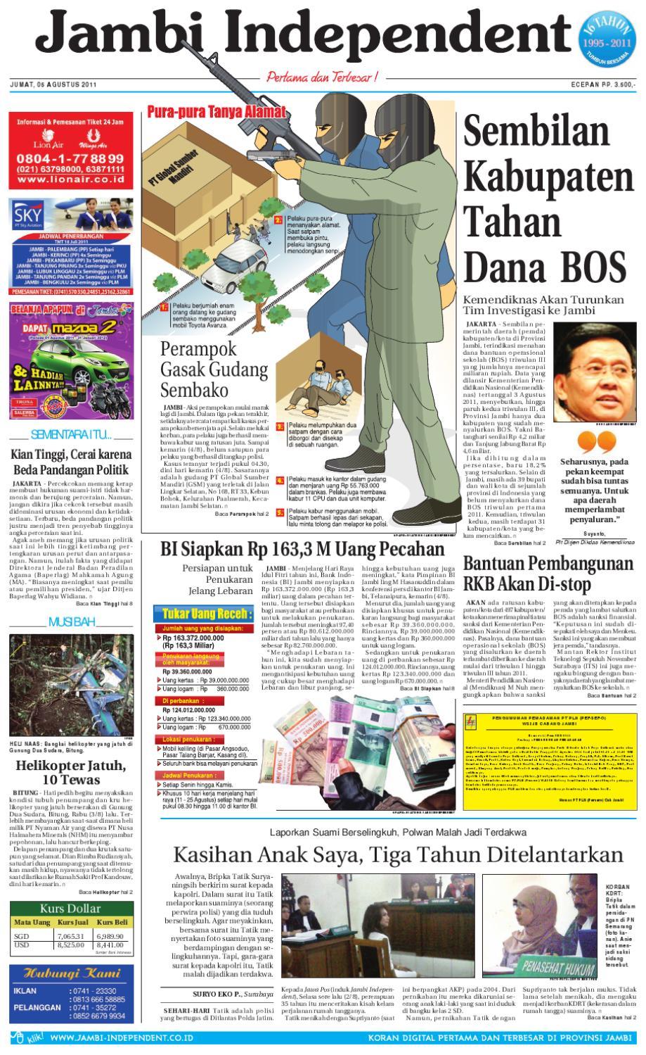 Jambi Independent 05 Agustus 2011 By Issuu Poduk Ukm Bumn Mr Kerbaw Keripik Bawang Bayam