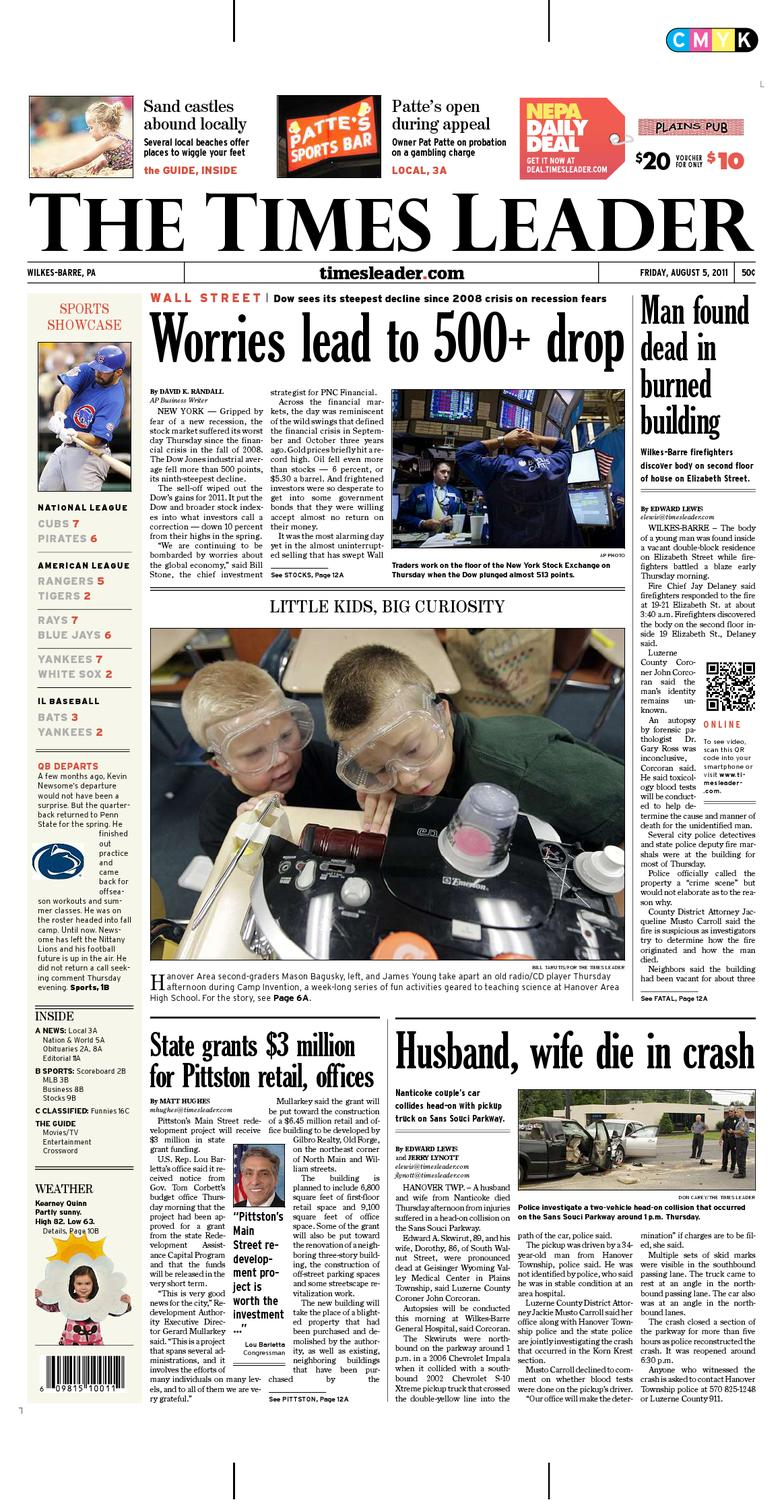 low priced 59c5a b2e5d Times Leader 08-05-2011 by The Wilkes-Barre Publishing Compa