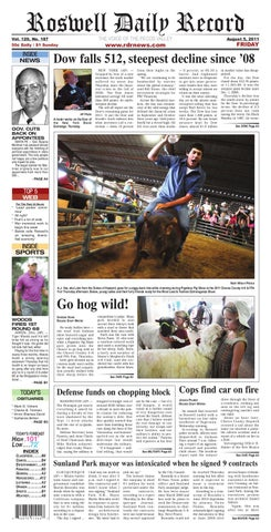 08-05-2011 by Roswell Daily Record - issuu