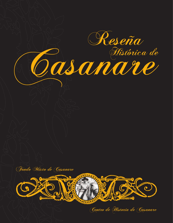 Resena Historica de Casanare by Fondo Mixto Casanare - issuu