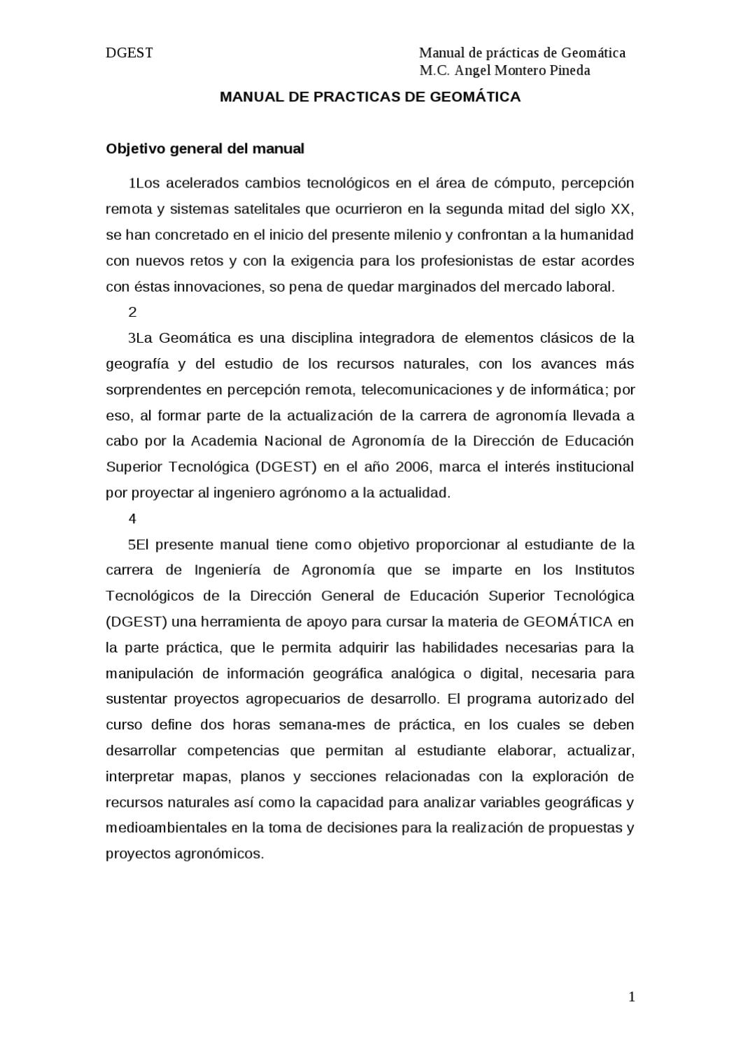 Manual de Prácticas de Geomática by Angel Montero - issuu