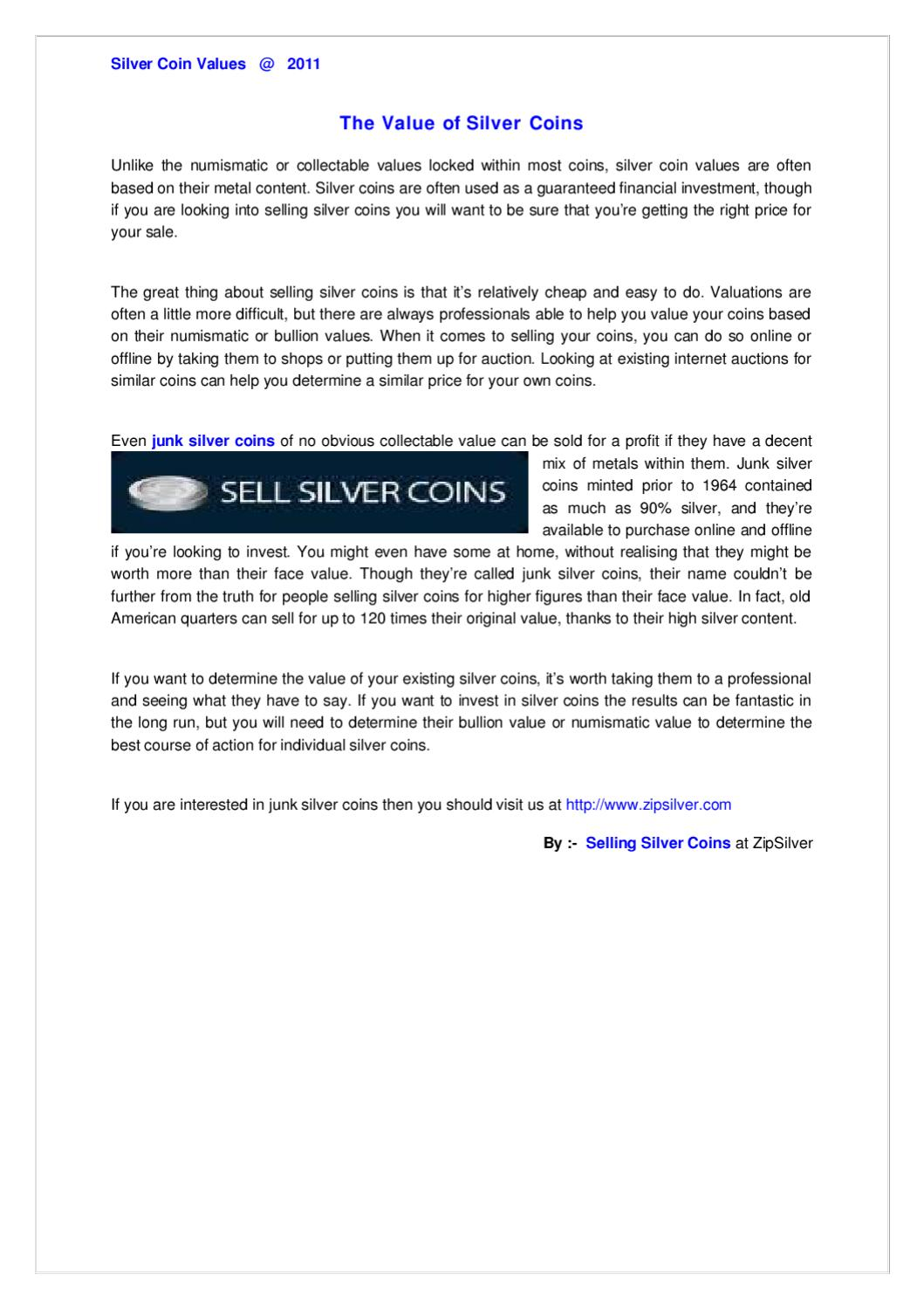 The Value of Silver Coins by Dipak Darji - issuu