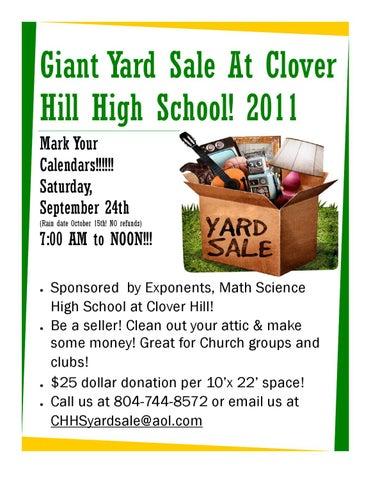 Clover Hill High School Yard Sale by Rebecca Walshak - issuu