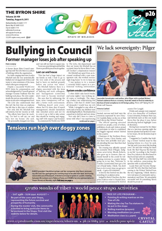 d206fa43a65df Byron Shire Echo – Issue 26.09 – 09 08 2011 by Echo Publications - issuu