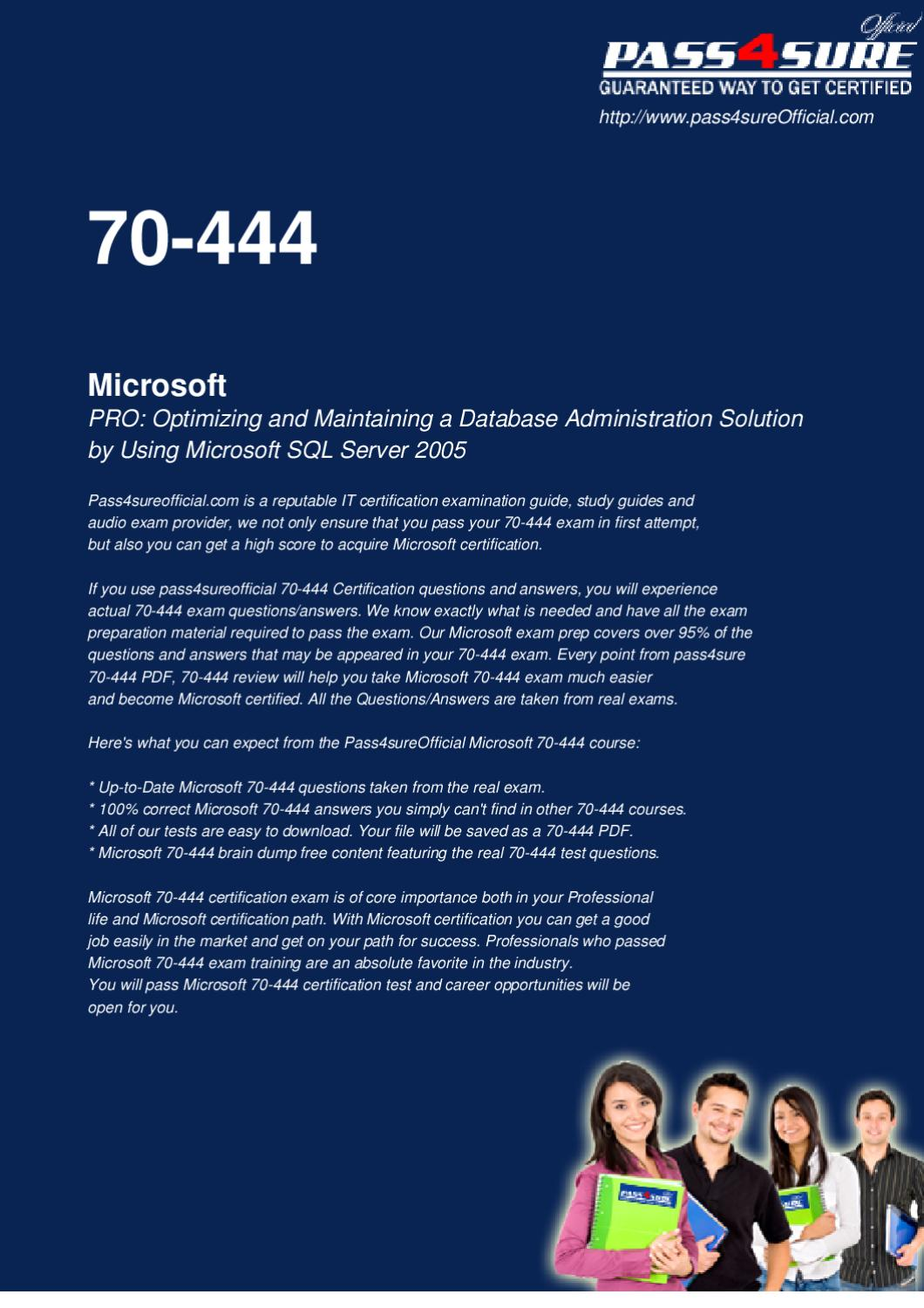 Microsoft 70 444 test training by officialcerts issuu xflitez Images