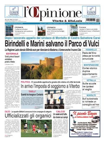 L Opinione Di Viterbo E Lazio Nord 7 Agosto 2011 By Nuovo Viterbo Oggi Issuu