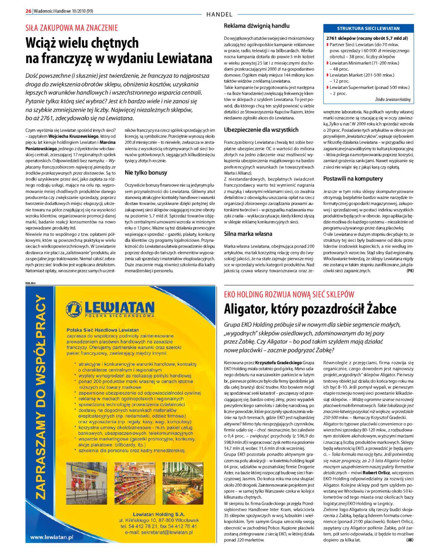 a981931bbd3c16 Wiadomości Handlowe X 2010 by Wydawnictwo Gospodarcze - issuu