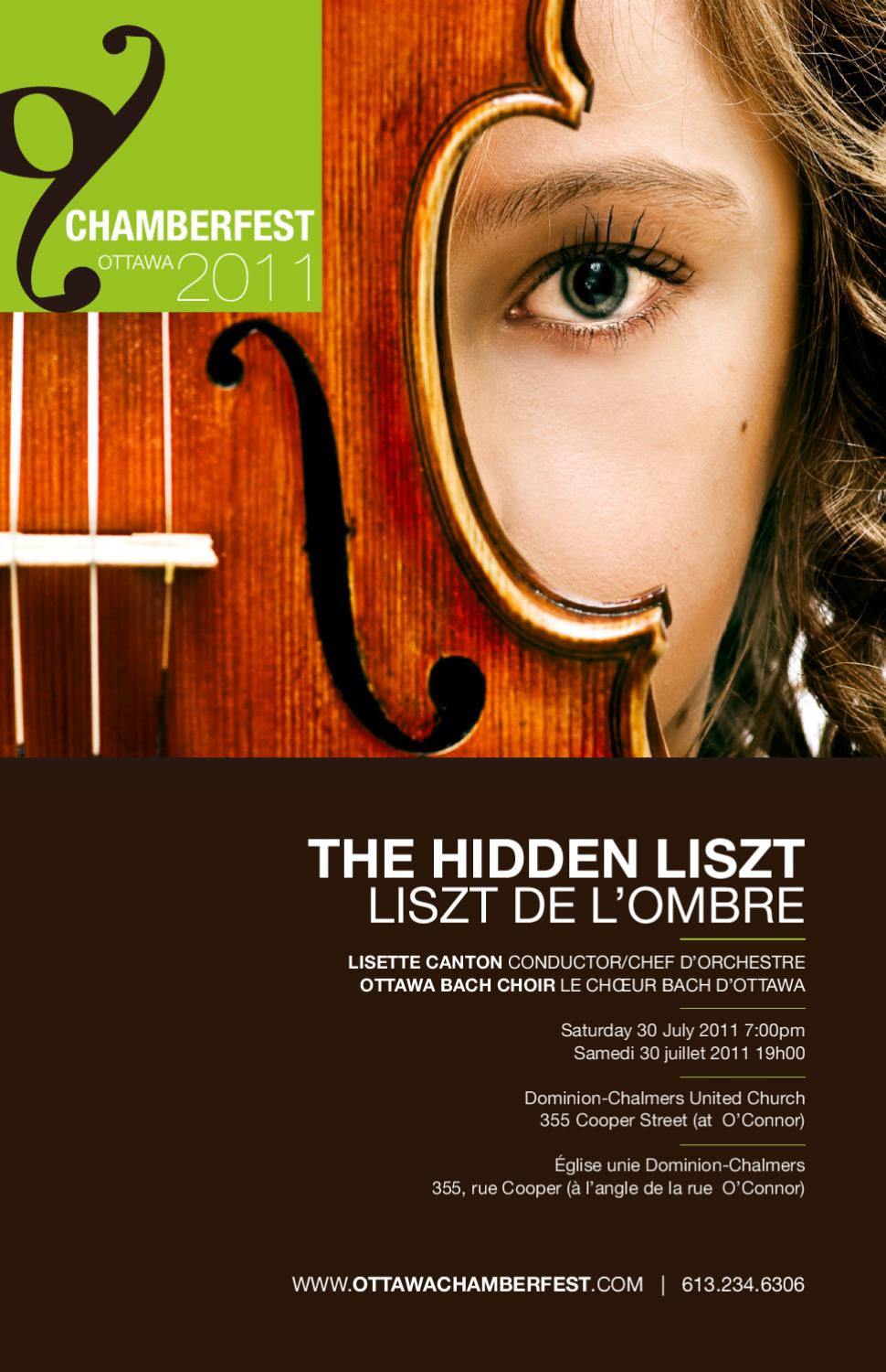 Ottawa bach choir the hidden liszt by ottawa chamberfest for Chamber l orchestre de chambre noir