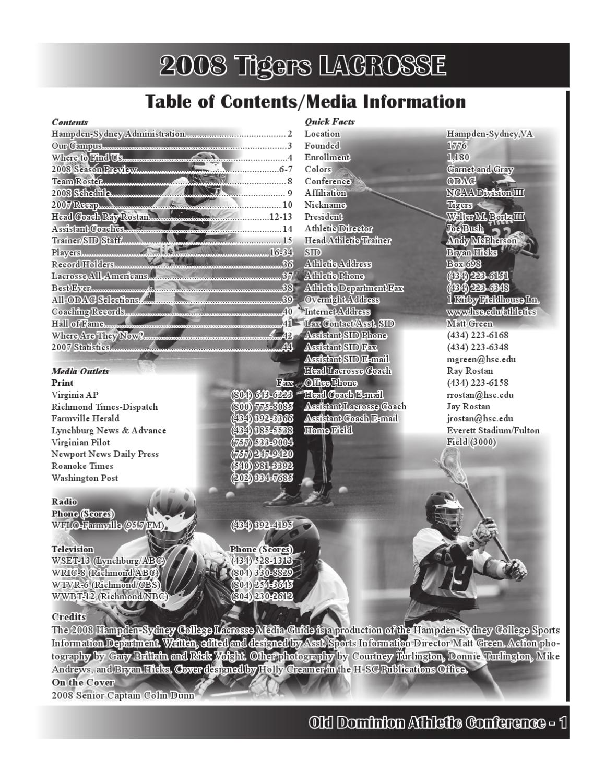 2008 Media Guide by Scott Harris - issuu