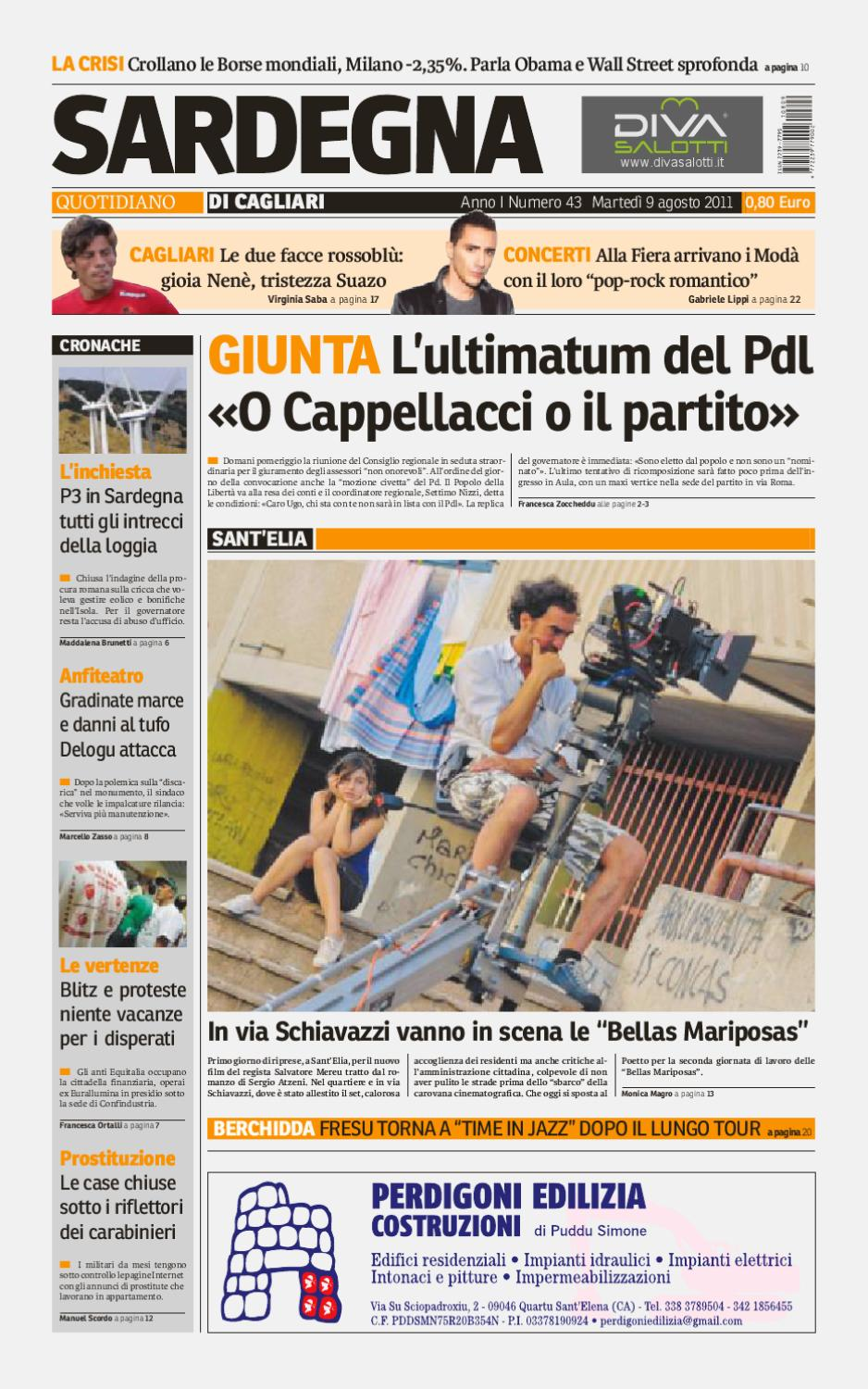Sardegnaquotidiano089 by manuel manca issuu for Lista onorevoli pd