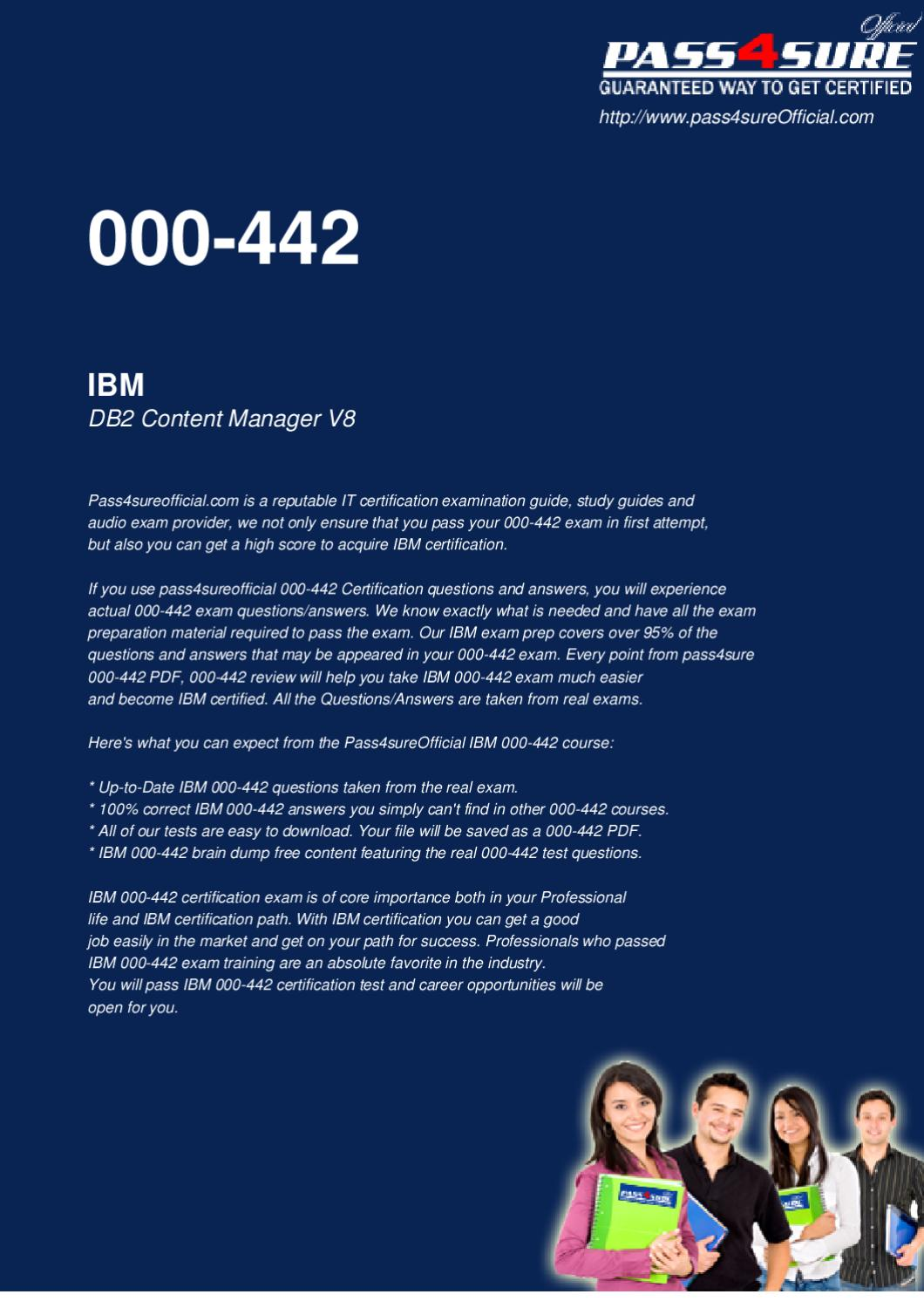 IBM 000-442 Actual Test by Officialcerts com - issuu