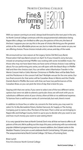 North Central College Book 9 By Footlights Issuu