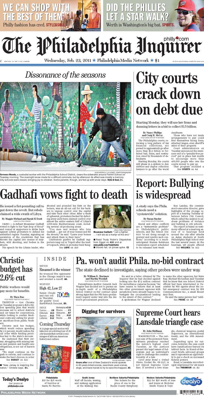 2e07d056de83d0 General News, Feb. 23, 2011 Philadelphia Inquirer by Philadelphia Inquirer  - issuu