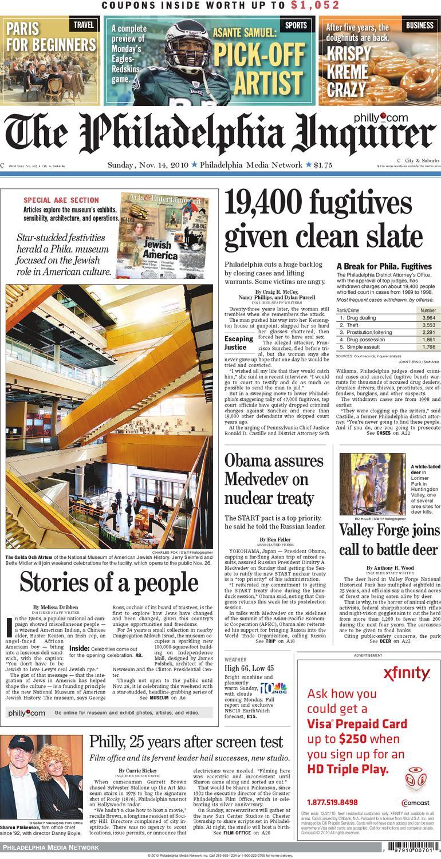 General News Nov 14 2010 Phila Inquirer By Philadelphia