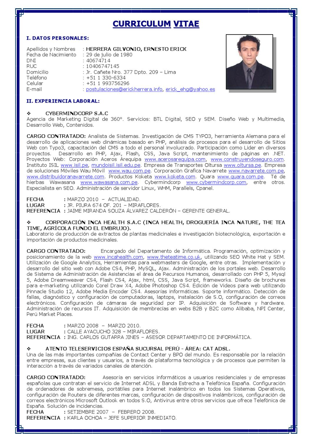 page_1  Page Curriculum Vitae on philippines sample, samples for church, personal statement, sample academic cv templates, english template, examples for professors, resume example,