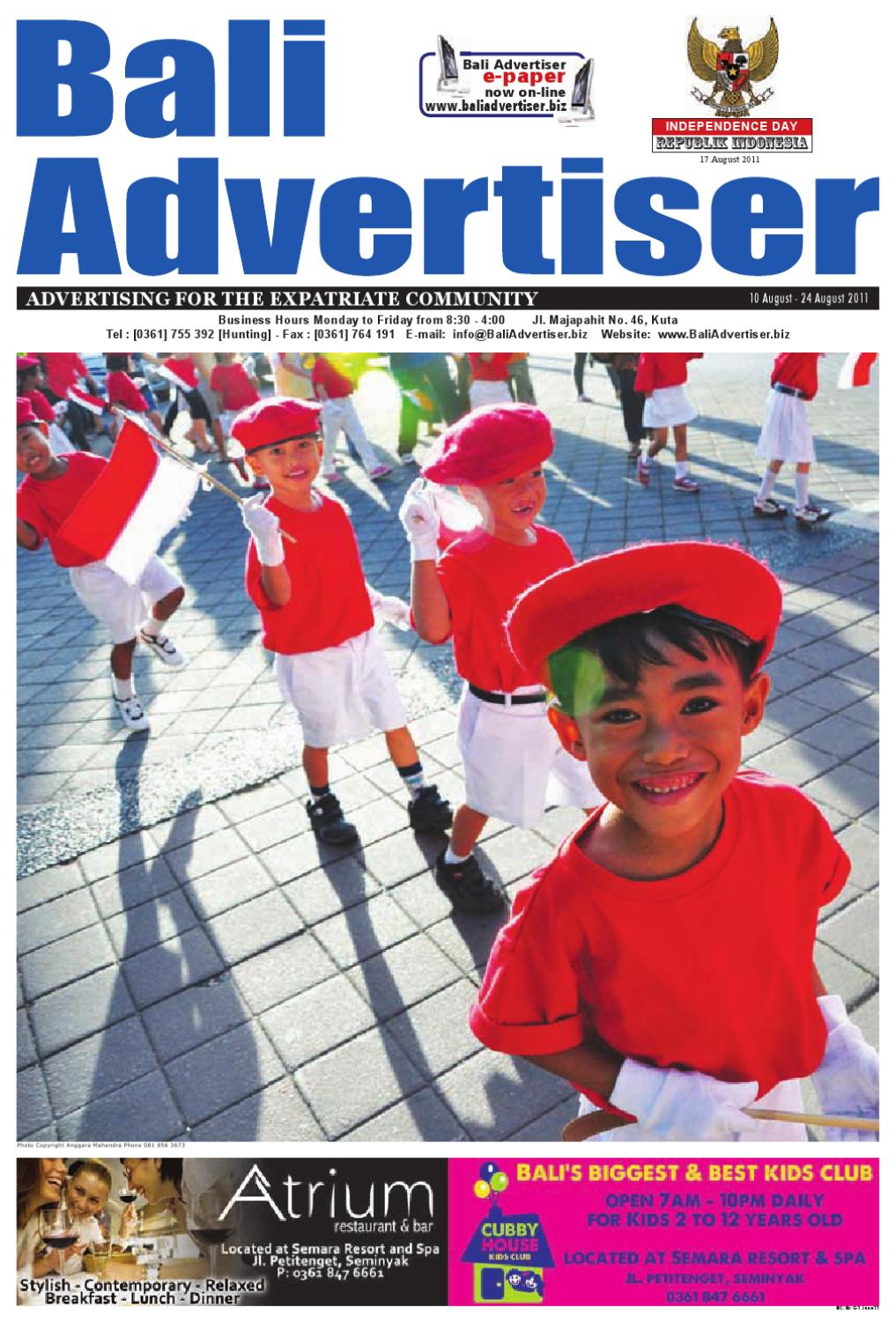 bd5fe9bb2ad3 BA 10 August 2011 by Bali Advertiser - issuu